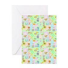 abc 123 blanket Greeting Card