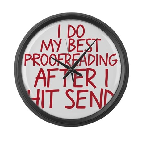 proofreading Large Wall Clock