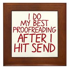proofreading Framed Tile