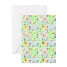 abc 123 curtain Greeting Card
