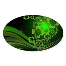 Heart And Shamrocks Decal