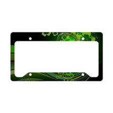 Heart And Shamrocks License Plate Holder