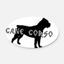 Cane Corso Silver Oval Car Magnet
