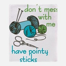 Pointy Sticks Throw Blanket