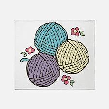 Yarn Trio Throw Blanket