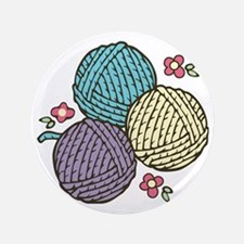 """Yarn Trio 3.5"""" Button"""