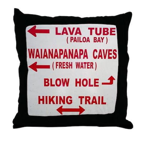 Maui Trails (Doggy Tshirt) Throw Pillow