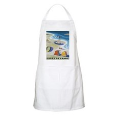 Vintage French Beach Travel Poster Apron
