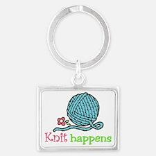 Knit Happens Landscape Keychain