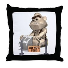 Do not feed Throw Pillow