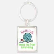 Keeps Me From Unraveling Portrait Keychain