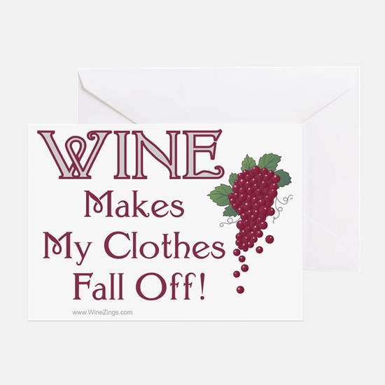 Wine Clothes Greeting Card
