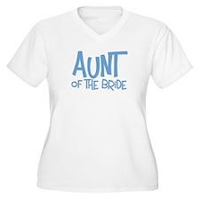Hipster Aunt of Bride: Blue Plus Size V-Neck Tee