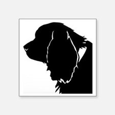 "Sussex spaniel silhouette Square Sticker 3"" x 3"""