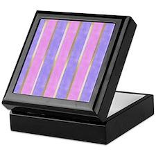 Blue and Pink Striped Keepsake Box