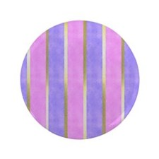 "Blue and Pink Striped 3.5"" Button"