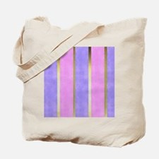 Blue and Pink Striped Tote Bag
