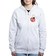 pink ladybug Zip Hoodie