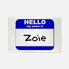 hello my name is zoie Rectangle Magnet