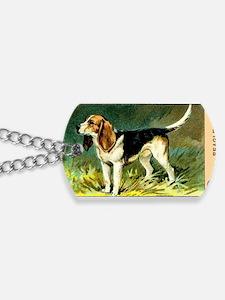 Antique 1908 Beagle Dog Cigarette Card Dog Tags