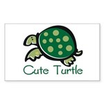 Cute Turtle Rectangle Sticker
