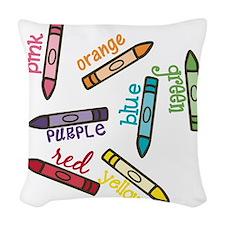 Colors Woven Throw Pillow