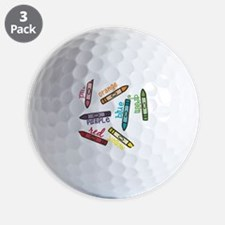 Colors Golf Ball