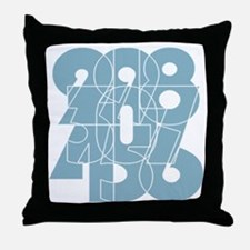 bk-pull_cnumber Throw Pillow