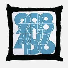 bk-ss_cnumber Throw Pillow