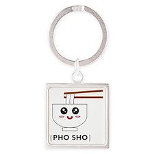 Pho Sho T-Shirt Square Keychain