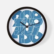 hg-pull_cnumber Wall Clock