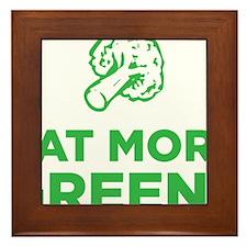 Eat More Greens Framed Tile