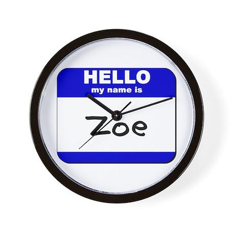 hello my name is zoe Wall Clock
