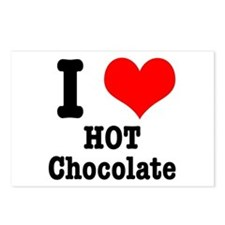I Heart (Love) Hot Chocolate Postcards (Package of