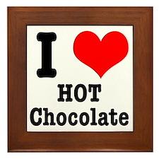 I Heart (Love) Hot Chocolate Framed Tile