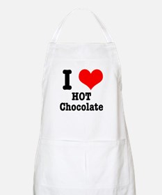 I Heart (Love) Hot Chocolate BBQ Apron