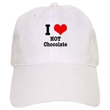 I Heart (Love) Hot Chocolate Baseball Cap