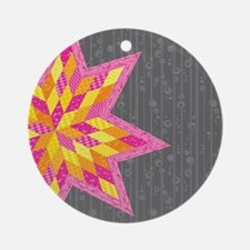 Morgan's Star Round Ornament