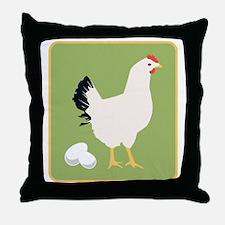 Chicken PNG Throw Pillow