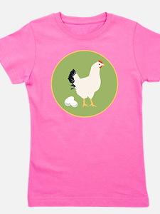 Chicken Round Girl's Tee