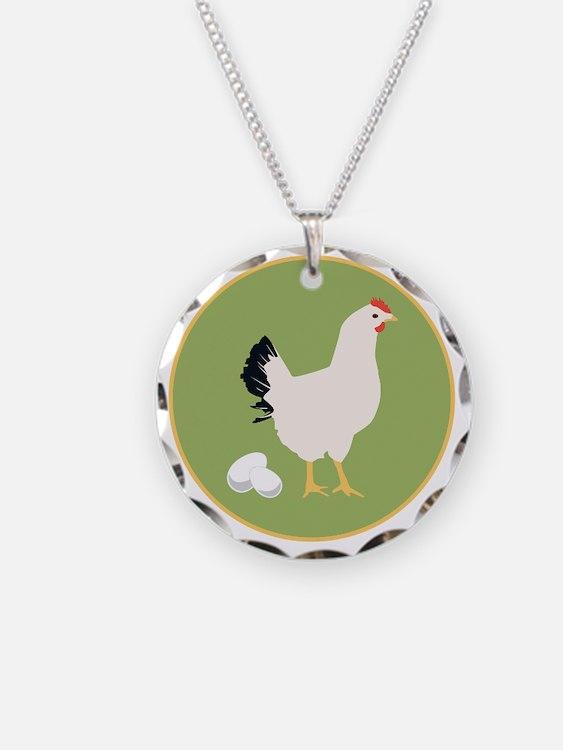 Chicken Round Necklace