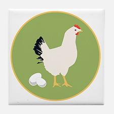Chicken Round Tile Coaster