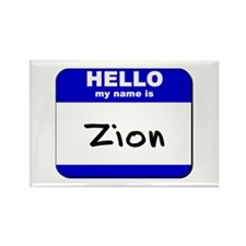 hello my name is zion Rectangle Magnet