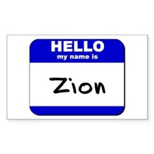 hello my name is zion Rectangle Decal