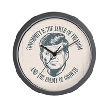 JFK -Conformity Wall Clock