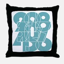 nvy-ss_cnumber Throw Pillow