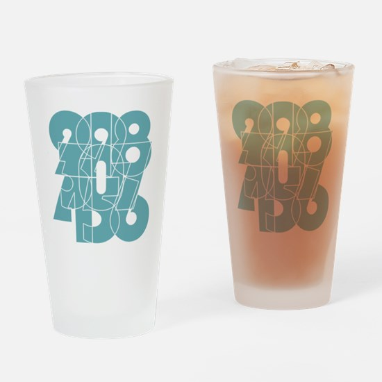nvy-ss_cnumber Drinking Glass