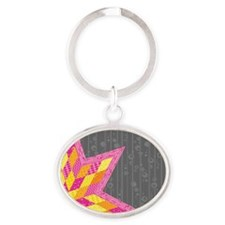 Morgan's Star Oval Keychain