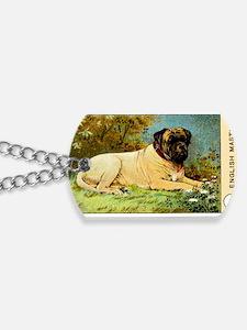Antique 1908 English Mastiff Dog Cigarett Dog Tags