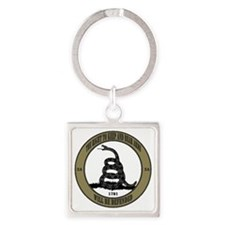 Defend the Second Amendment Square Keychain
